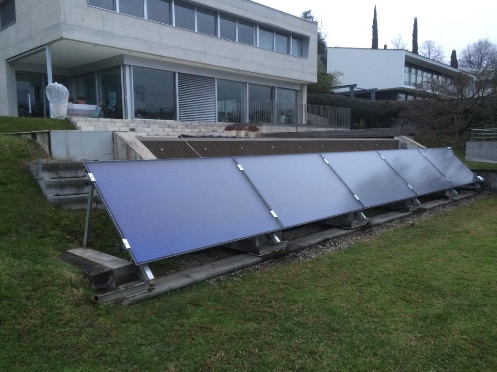 Impianto solare installato in giardino
