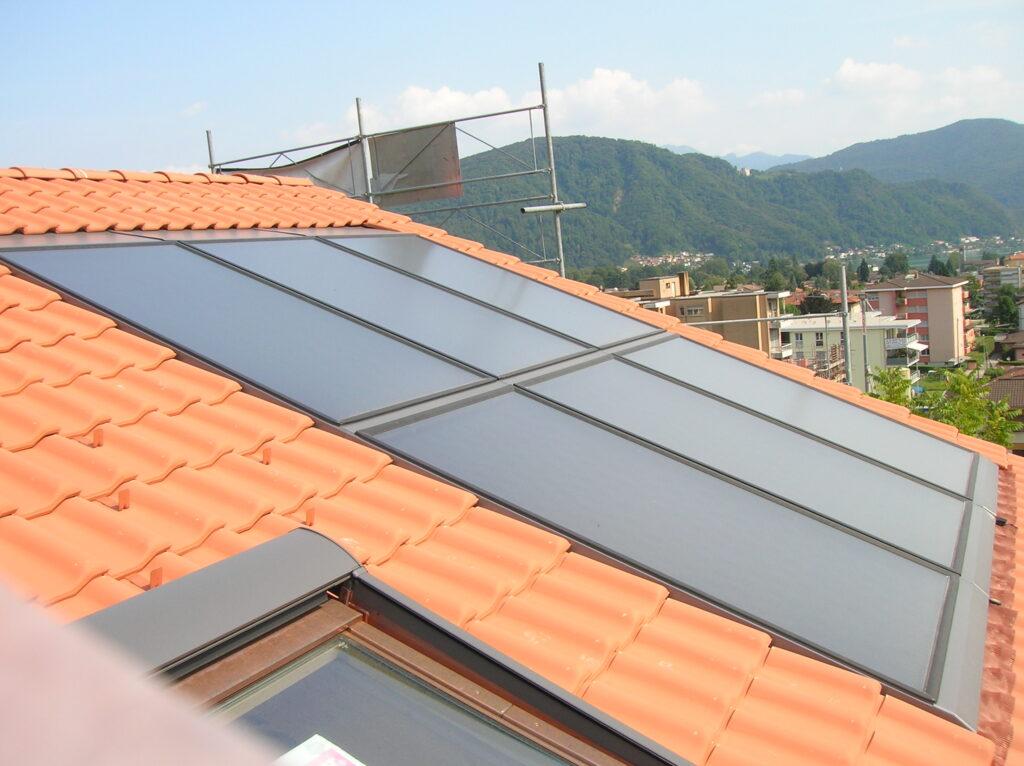 Impianto solare integrato nel tetto